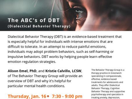 Behavioral health events Jan 12-26