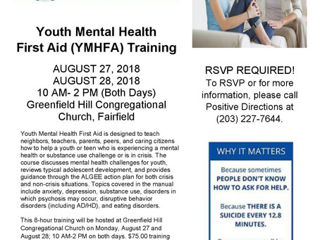 Mental Health Trainings for Suicide Prevention Month
