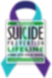 suicide prevention lifeline with ribbon_
