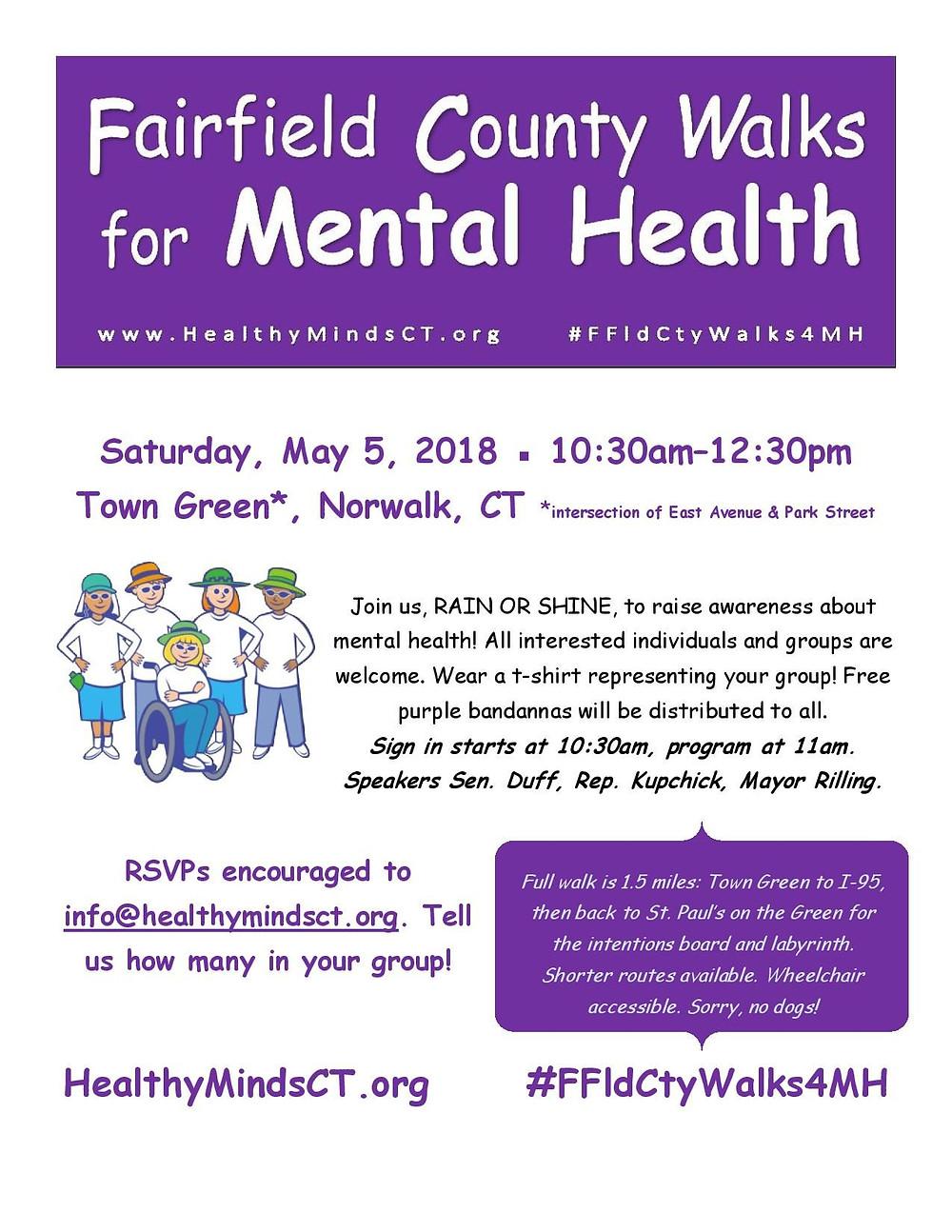 flyer for mental health awareness walk