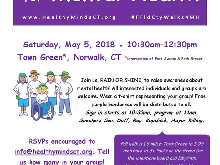 Join us for 2nd annual Mental Health Walk in Fairfield County!
