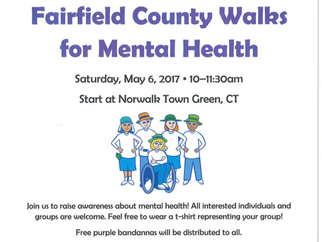 Save the Date: Fairfield County Walks for Mental Health