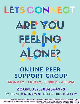 Online Peer Support Group Flyer_Advocacy