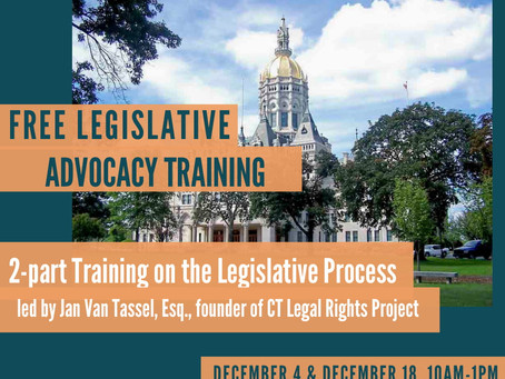UPDATED! Get ready for the Legislative Session! Free training & workgroup meeting