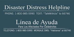 "Coping with Corona: Disaster Distress Helpline, ""Talk It Out"" for caregivers & Summary"