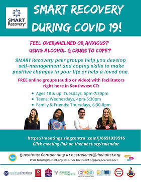 SMART Recovery during COVID19 flyer-page