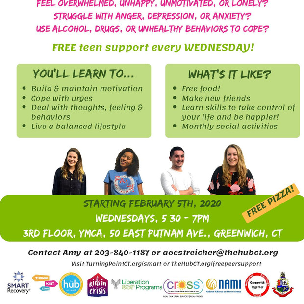 Greenwich SMART Recovery flyer for teens