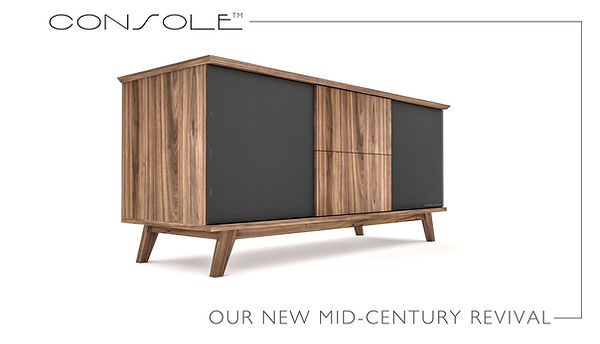 Mid-Century Modern TV Stereo Console