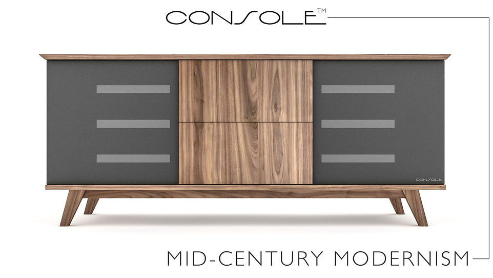 Mid-Century Modern TV Stereo Console by WOODTECH Cabinetry