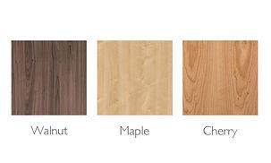 Walnut, Maple, Cherry Wood Swatches