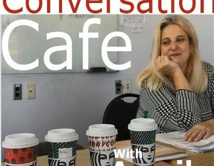 Learn English and have fun at Amalia'a online English Conversation Cafe!