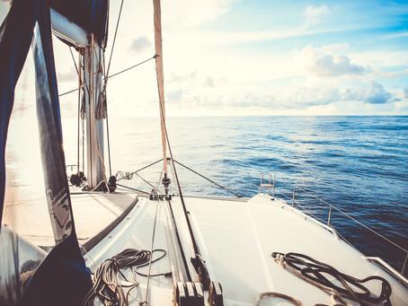 Atravessando o Oceano Atlântico de carona