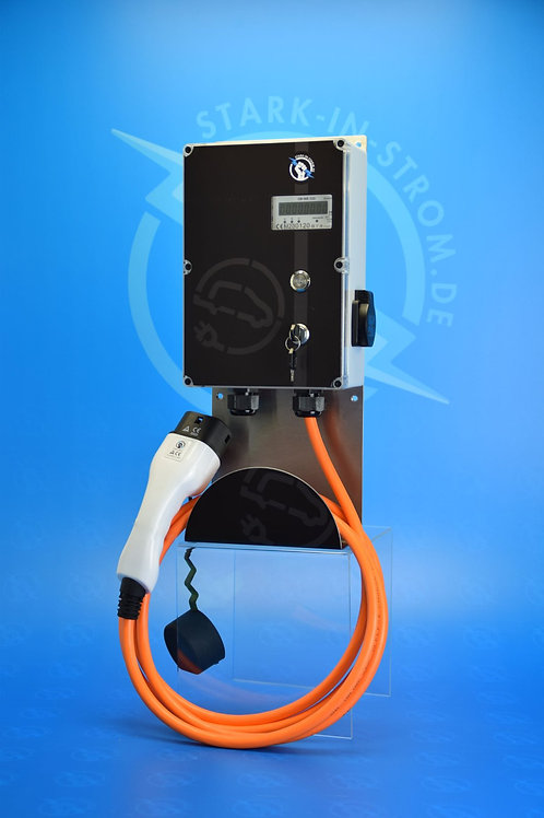 Wallbox 11 KW / BIG EASY / 3-Phasig /geeichter Zähler/ Typ 2 Kabel / FI Typ B