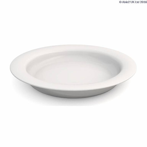 Ornamin Plate With Sloped Base - 26cm - Blue/White