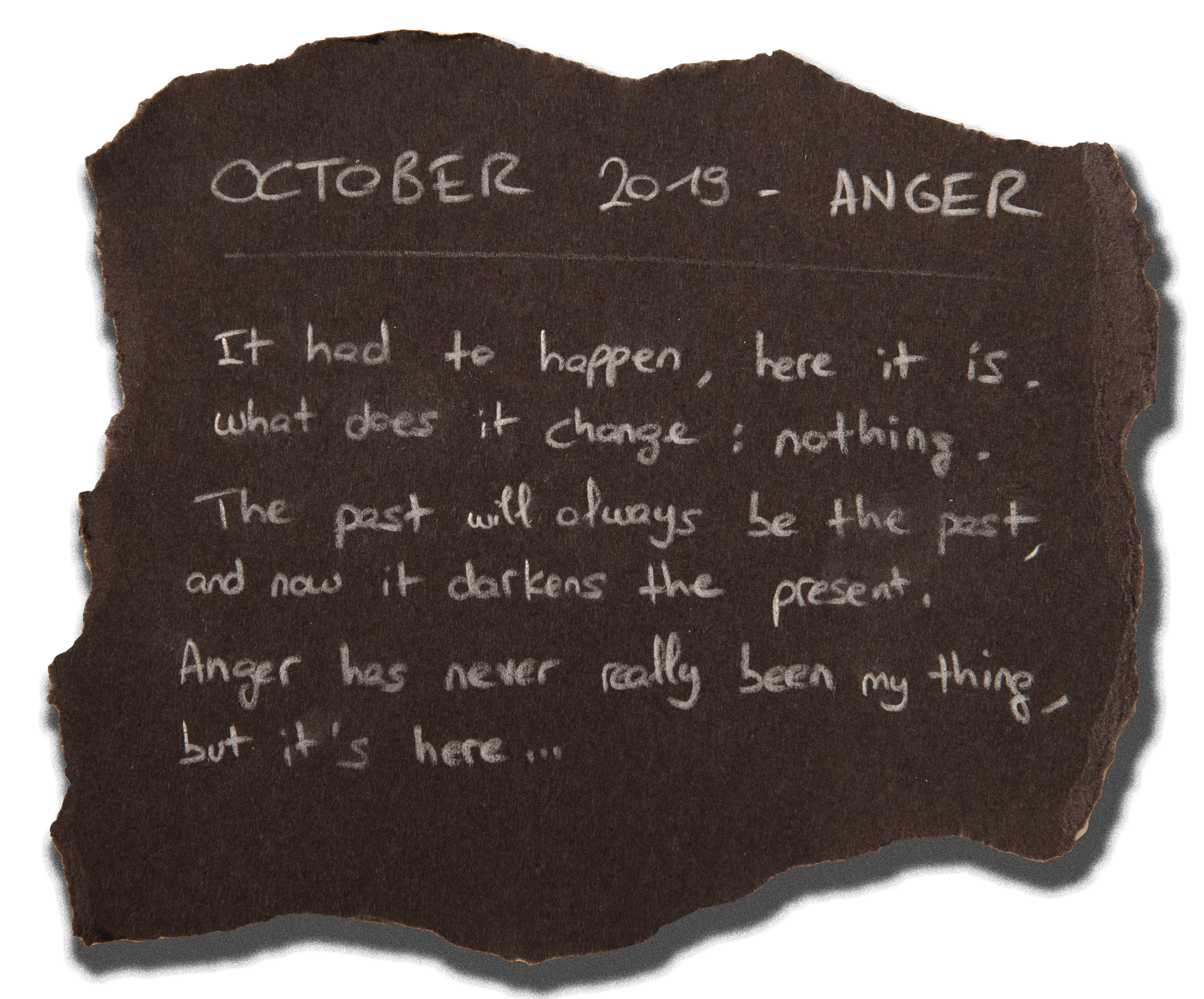 #7 - OCTOBER 2019 - ANGER