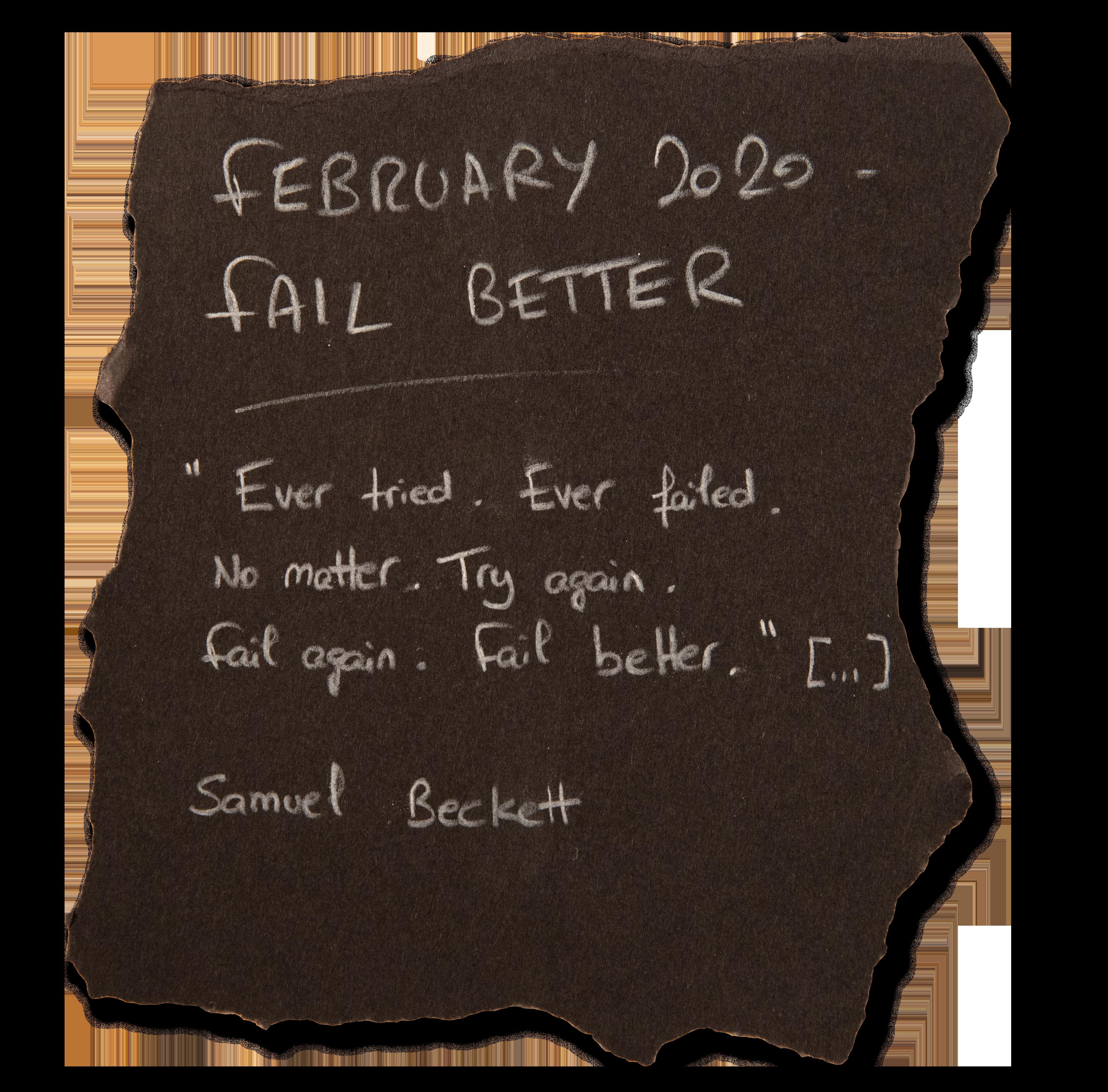 #3 - FEBRUARY 2020 - FAIL BETTER