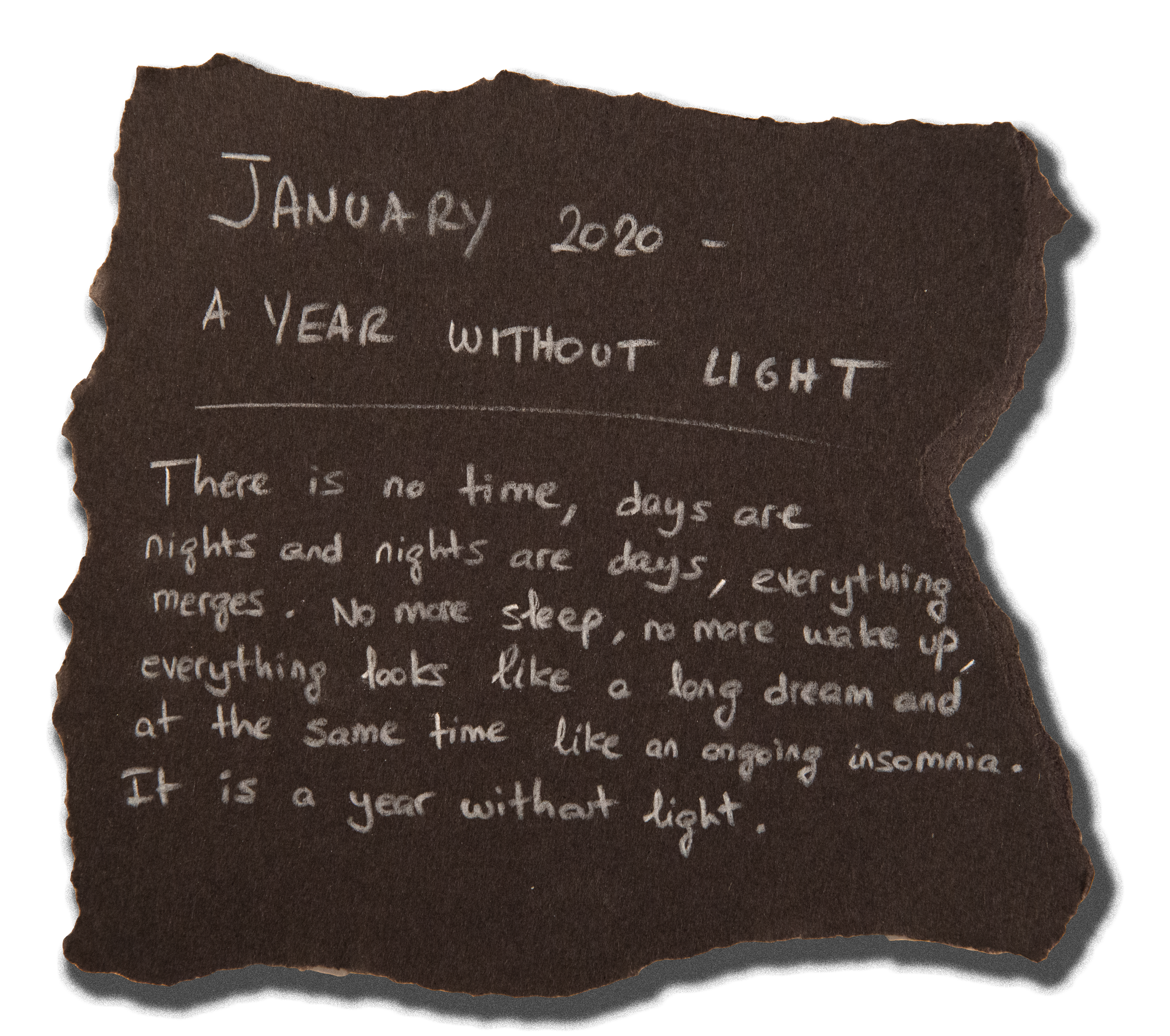#4 - JANUARY 2020 - A YEAR WITHOUT LIGHT