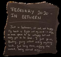 #10 - FEBRUARY 2020 - IN BETWEEN