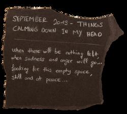 #1 - SEPTEMBER 2019 - THINGS CALMING DOWN IN MY HEAD