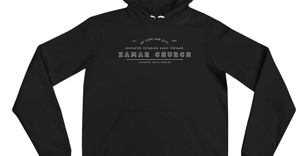Encounter. Establish. Equip. Empower. Unisex hoodie