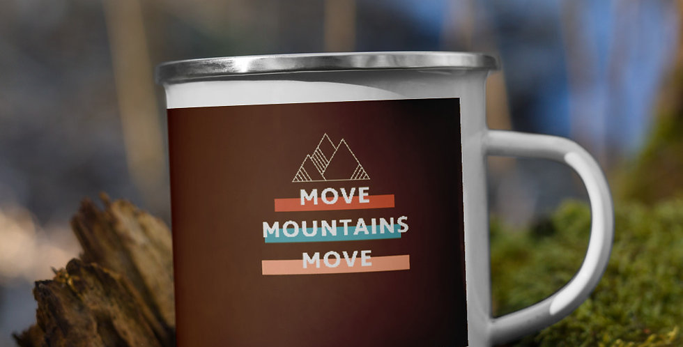 Mountains Move Enamel Mug