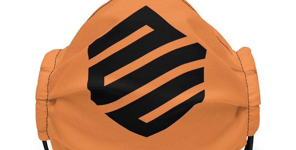 Orange. face mask