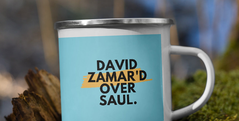 David Zamar'd Over Saul Enamel Mug