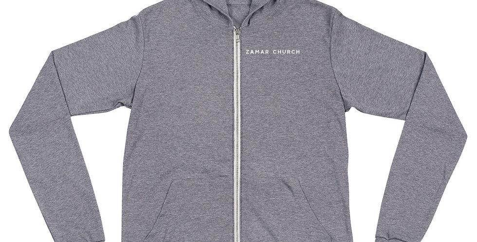 Z.CHURCH Unisex zip hoodie