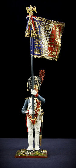 Ist Grenadiers of the Imperial Guard regimental flag bearer