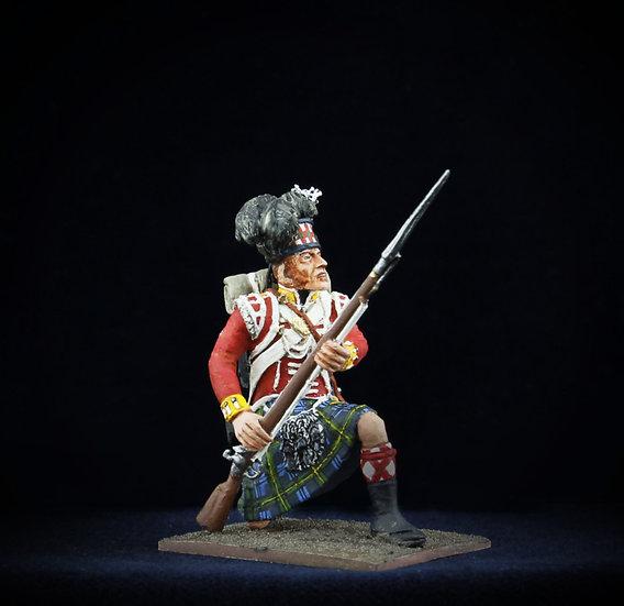 Gordon highlander kneeling