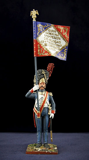 Ist battalion of the Ist regiment of Imperial Guard grenadiers flag bearer