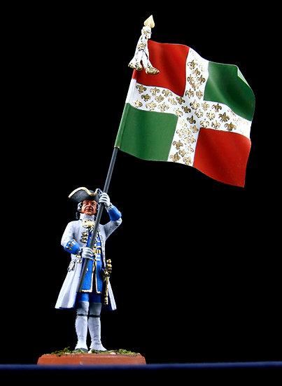 King's regiment standard bearer
