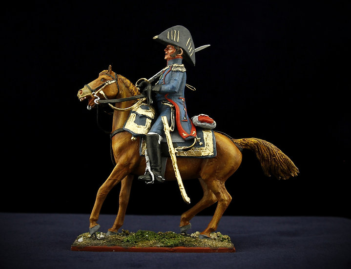 Imperial guard artillery officer on horse