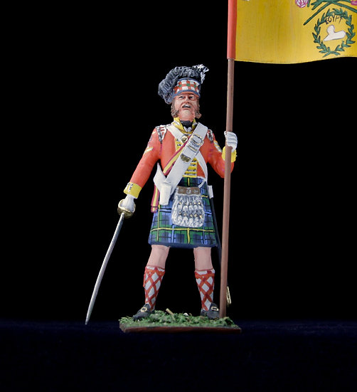 Gordon highlanders regimental standard bearer
