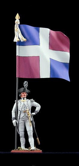 Bourbonnais regiment standard bearer