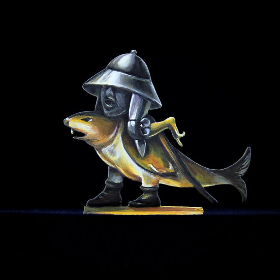 Tin hat fishrider