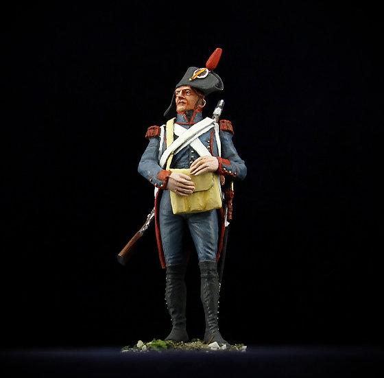 Revolutionnary artillery gunner with satchel