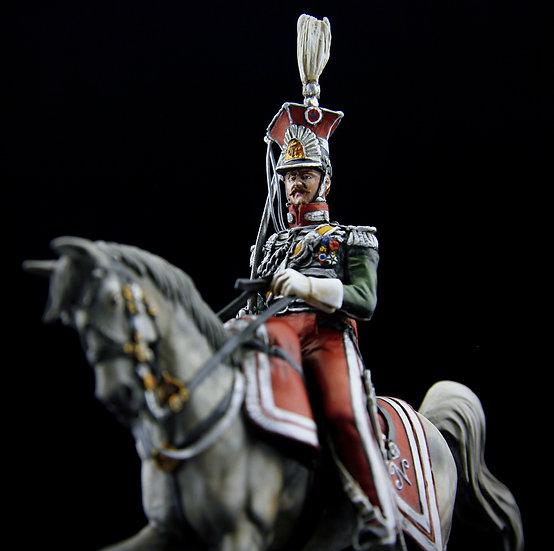 Colonel François Wolff in Napolitan Kingdom Guard chevau-léger uniform