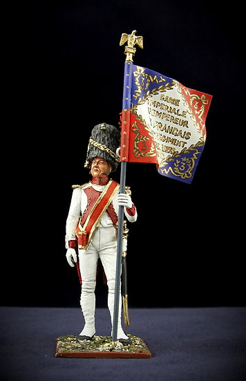 Ist battalion of the 3rd regiment of Imperial Guard grenadiers flag bearer