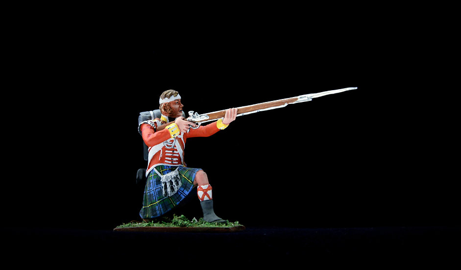 Wounded Gordon highlander aiming