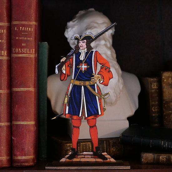 Mousquetaire de Bois inspiré de la 1ère Cie vers 1705 (Louis XIV)