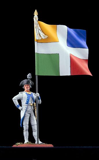 Touraine regiment standard bearer