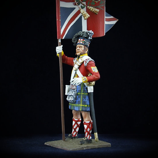 Gordon highlanders King's colors standard bearer