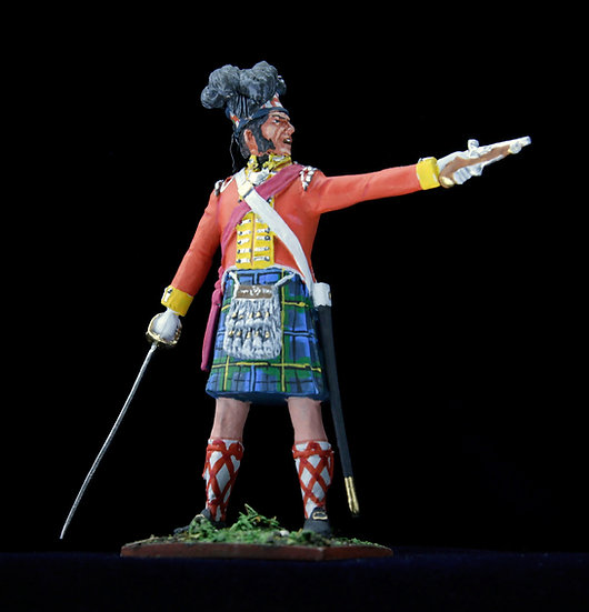 Gordon highlanders officer with pistol