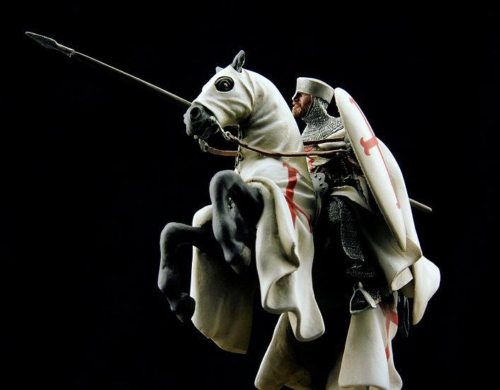 Templar master on horseback, XIIth century