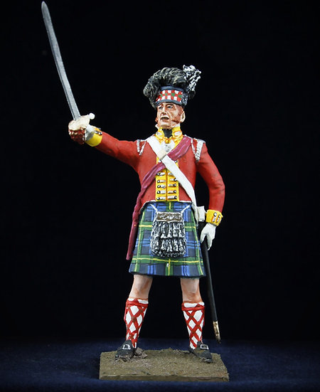 Gordon highlanders officer with sword