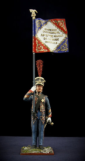 Battalion of the Imperial Guard marines flag bearer
