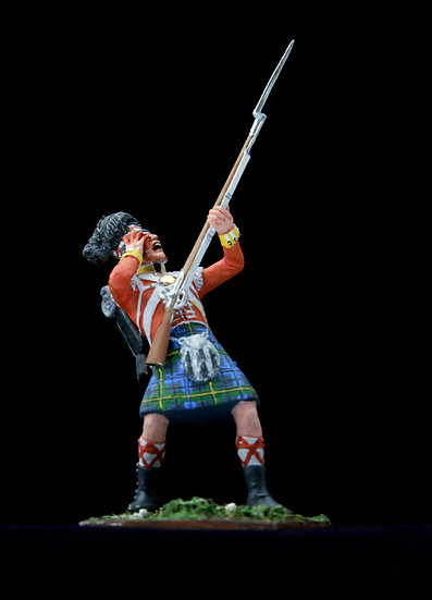 Wounded Gordon highlander hit in the eye