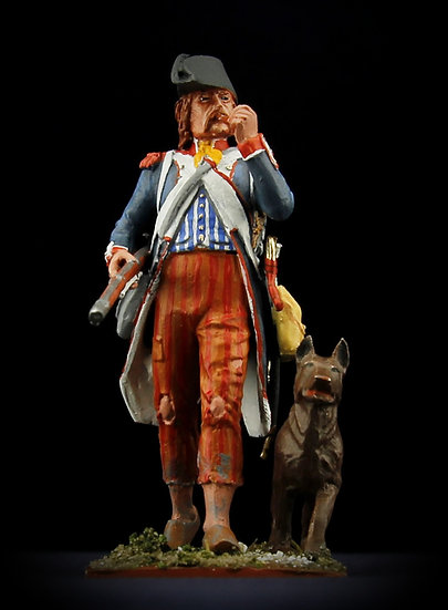 Republican soldier with dog