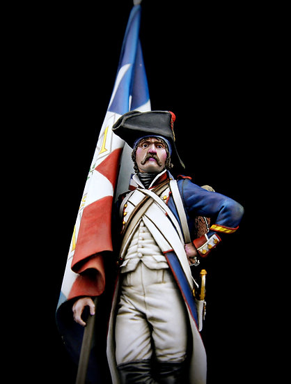21st regiment standard bearer - Revolution era